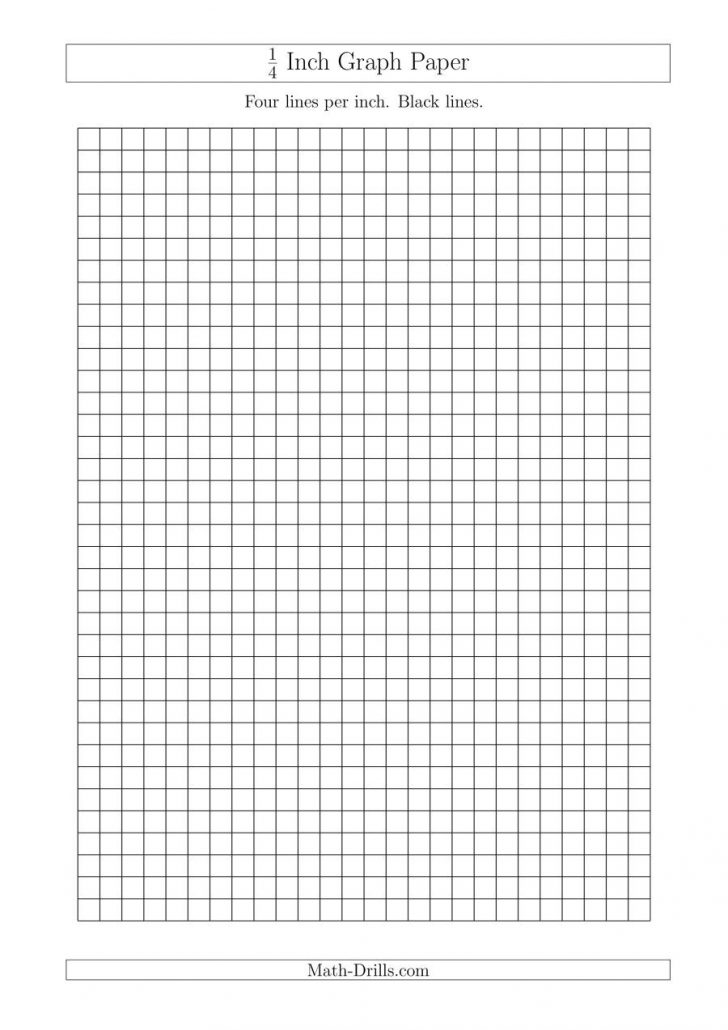 1 4 Inch Grid Printable Graph Paper