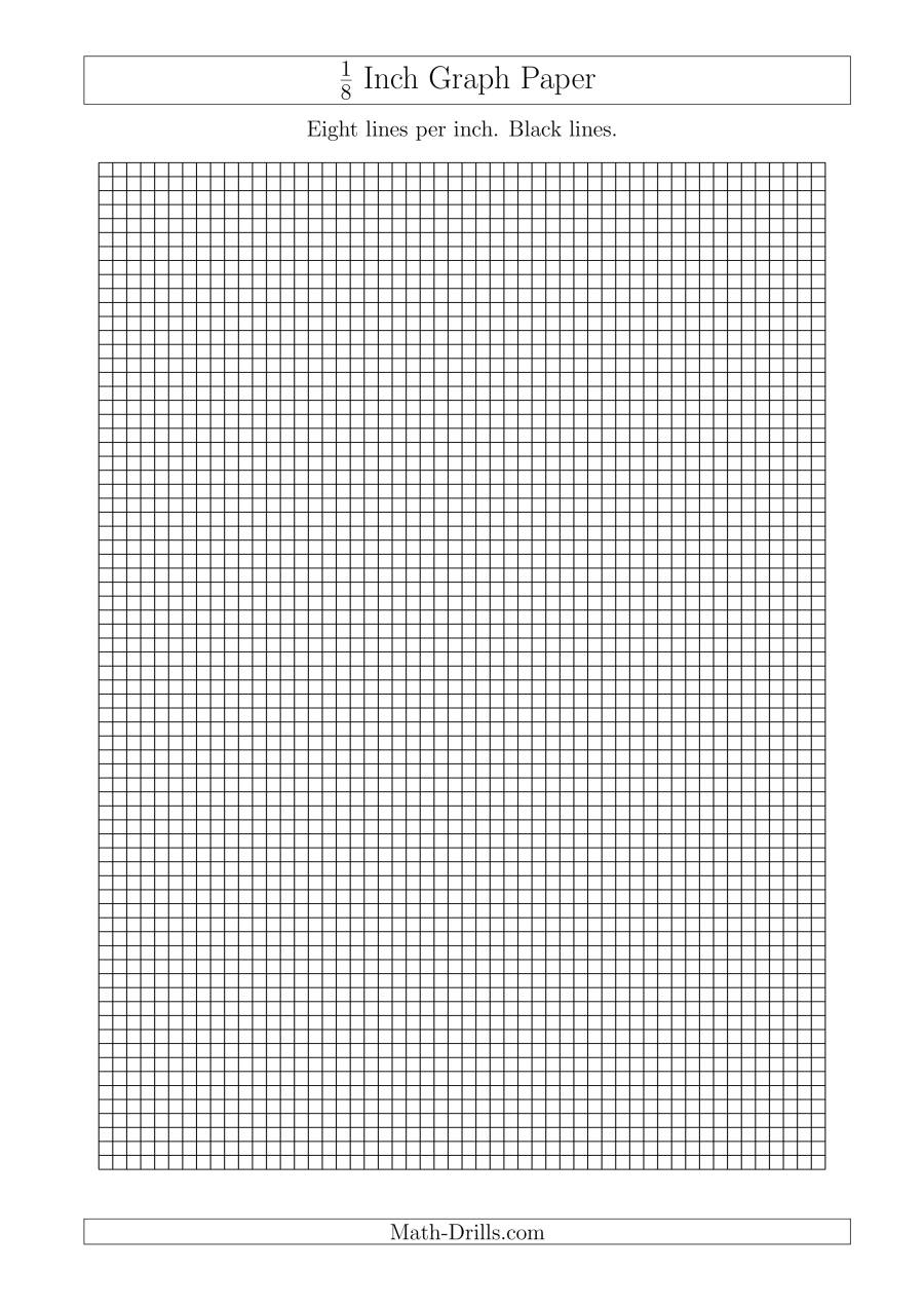 1 8 Inch Graph Paper With Black Lines A4 Size Graph Paper