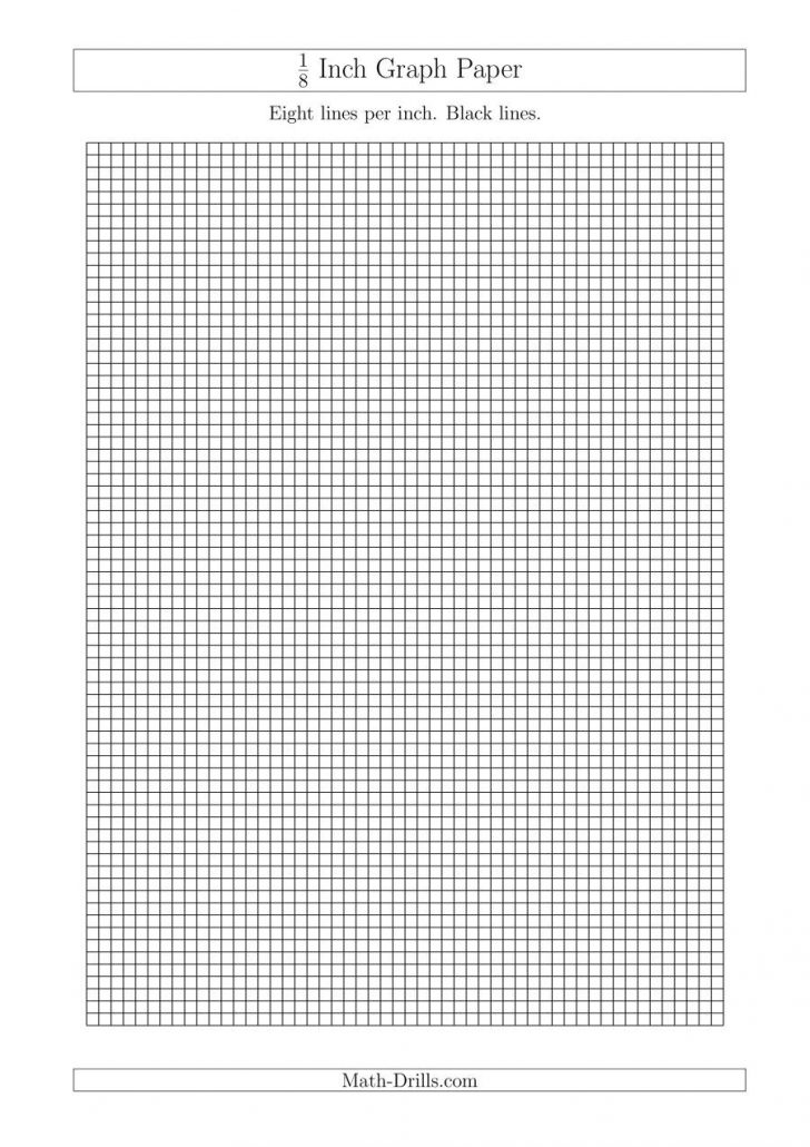 Printable Full Page 1 8 Inch Graph Paper
