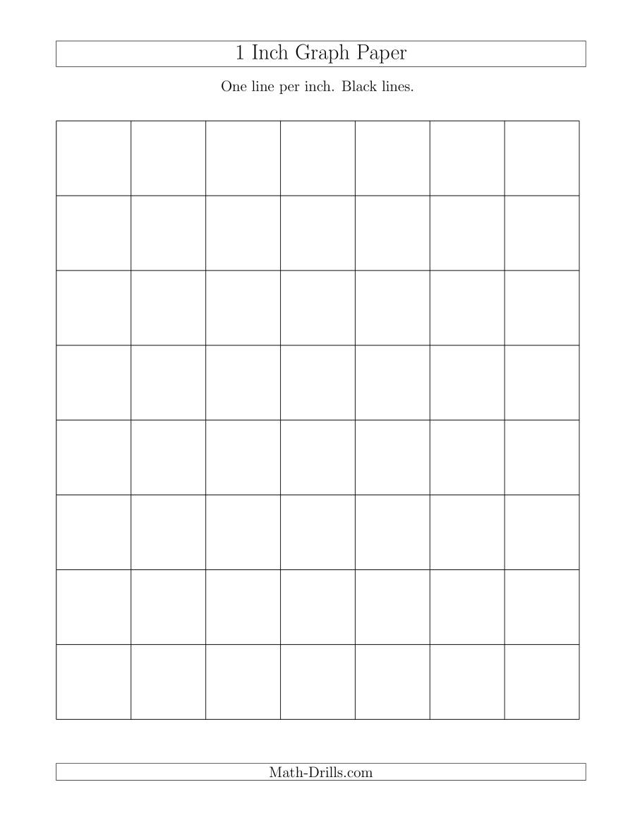 1 Inch Graph Paper With Black Lines A