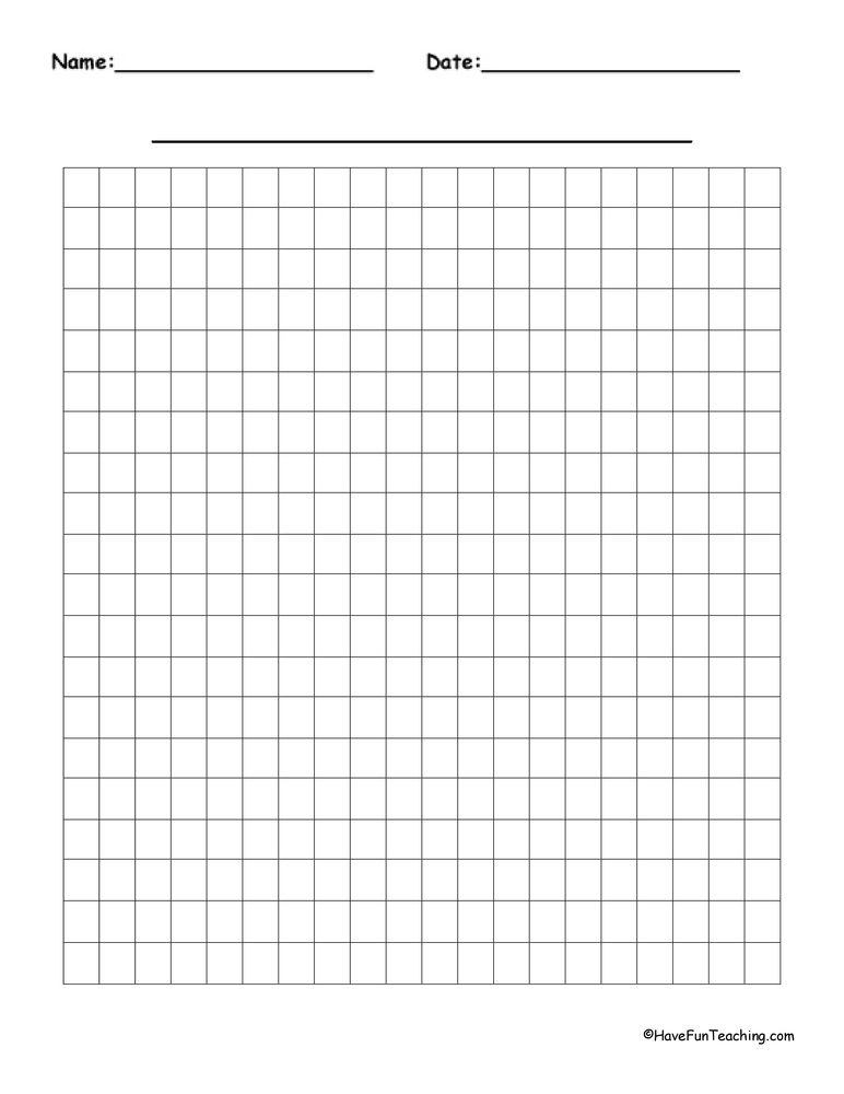 20 By 20 Blank Graph Paper For Blank Graph With Numbers Up