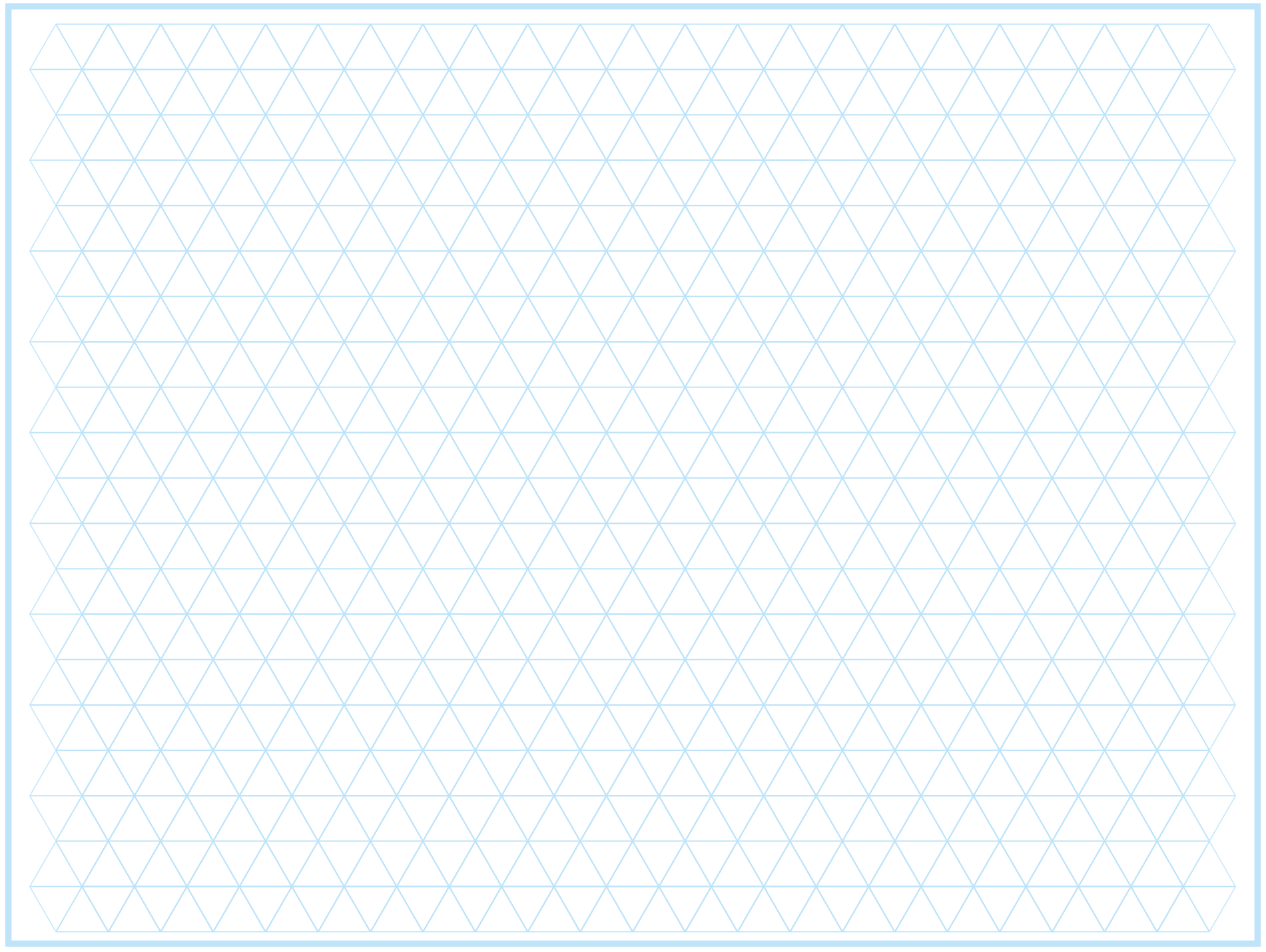 4 Free Printable Triangle Graph Paper Free Graph Paper