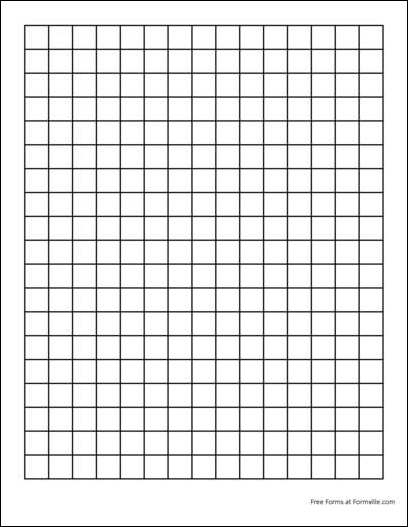 5 Best Images Of Square Inch Grid Paper Printable 1 Inch