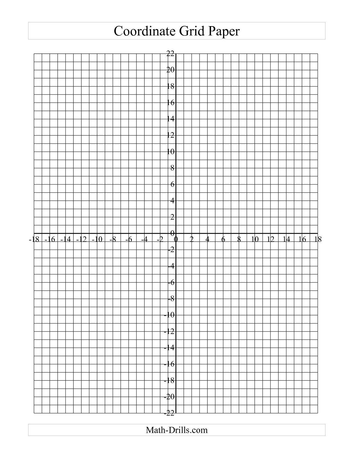 Blank Graph Paper 20X20 World Of Reference