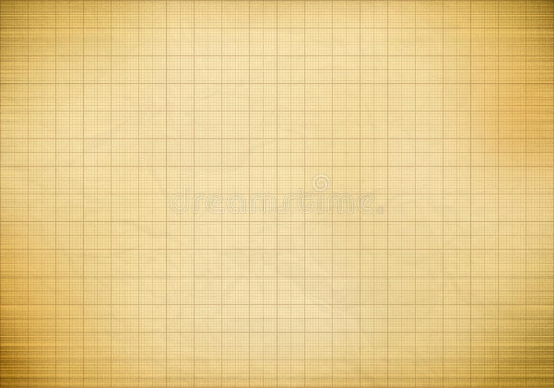 Blank Millimeter Old Graph Paper Stock Image Image Of