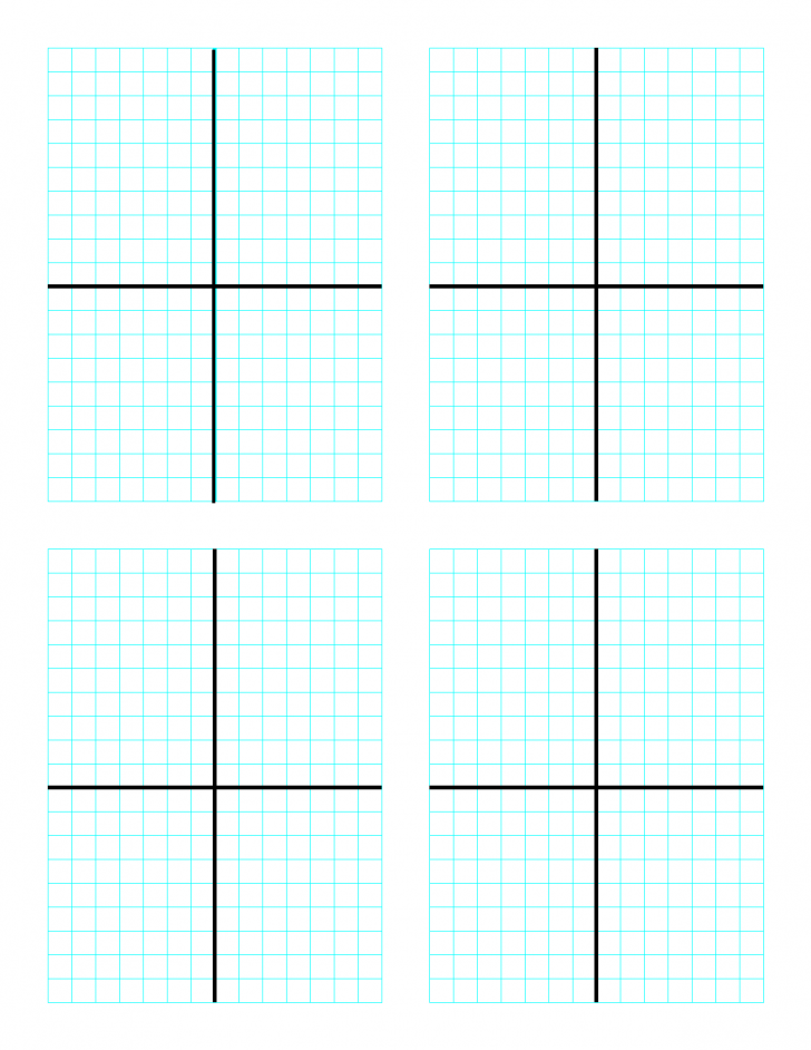 Printable Graph Paper With Axis 4 Per Page