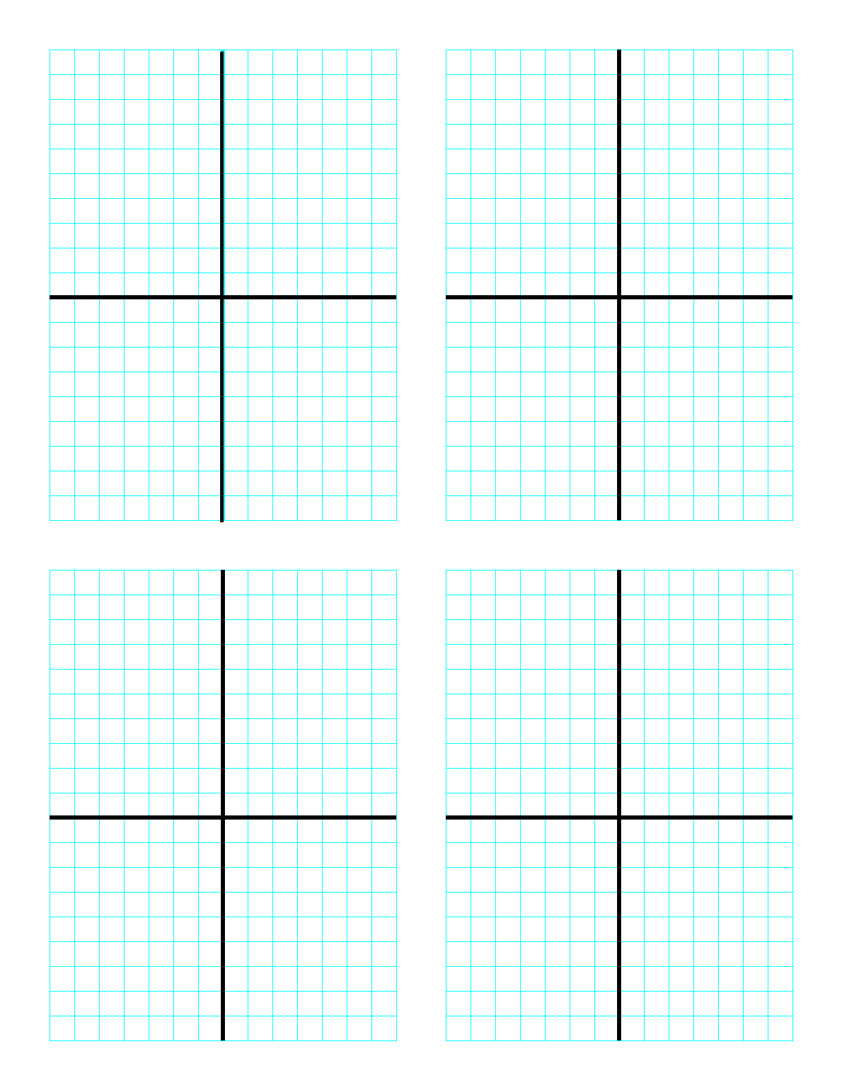 Cartesian Graph Four Per Page Free Download