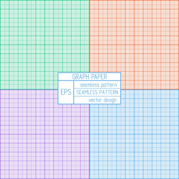 Coloured Graph Paper Pattern Vector Free Download