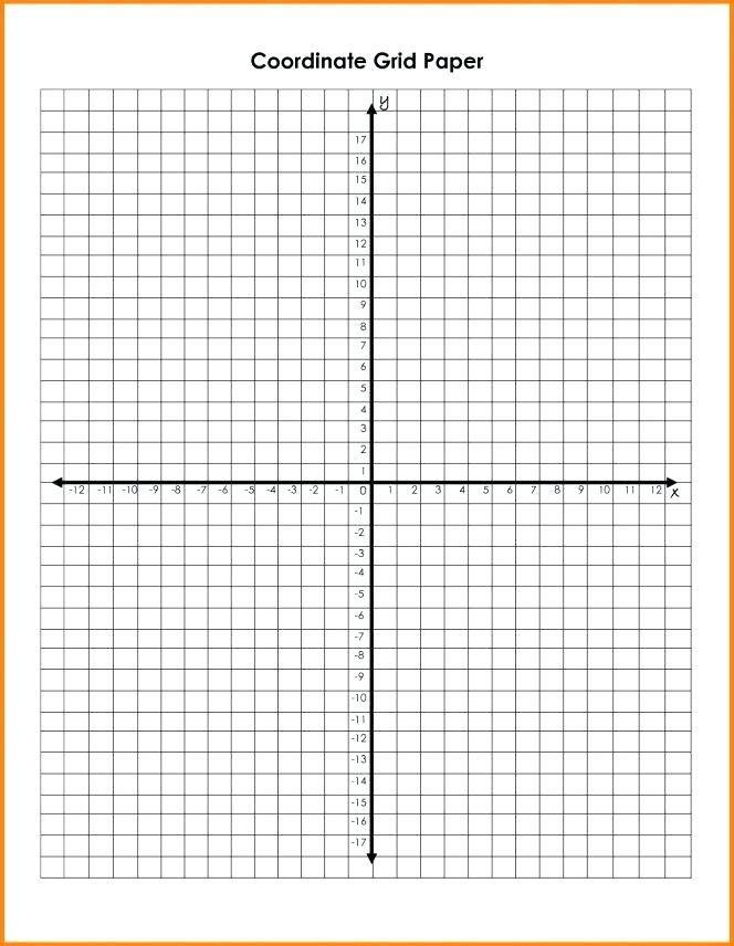 Coordinate Graph Paper With Numbers Free Printable Graph
