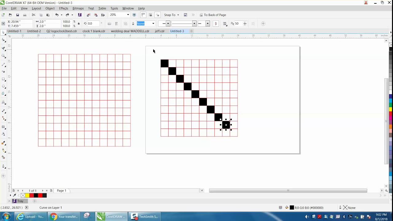 Corel Draw Tips Tricks Graph Paper Tool YouTube