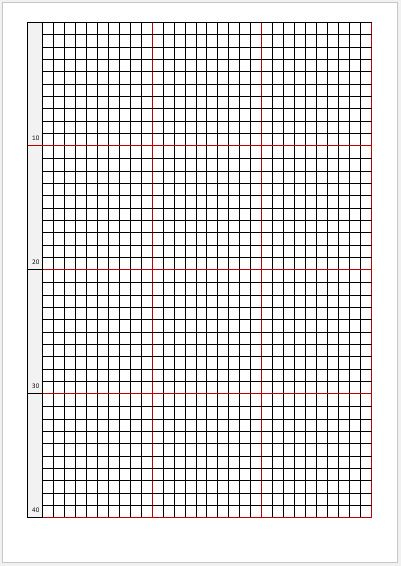 Cross Stitch Graph Papers For MS Word Word Excel Templates