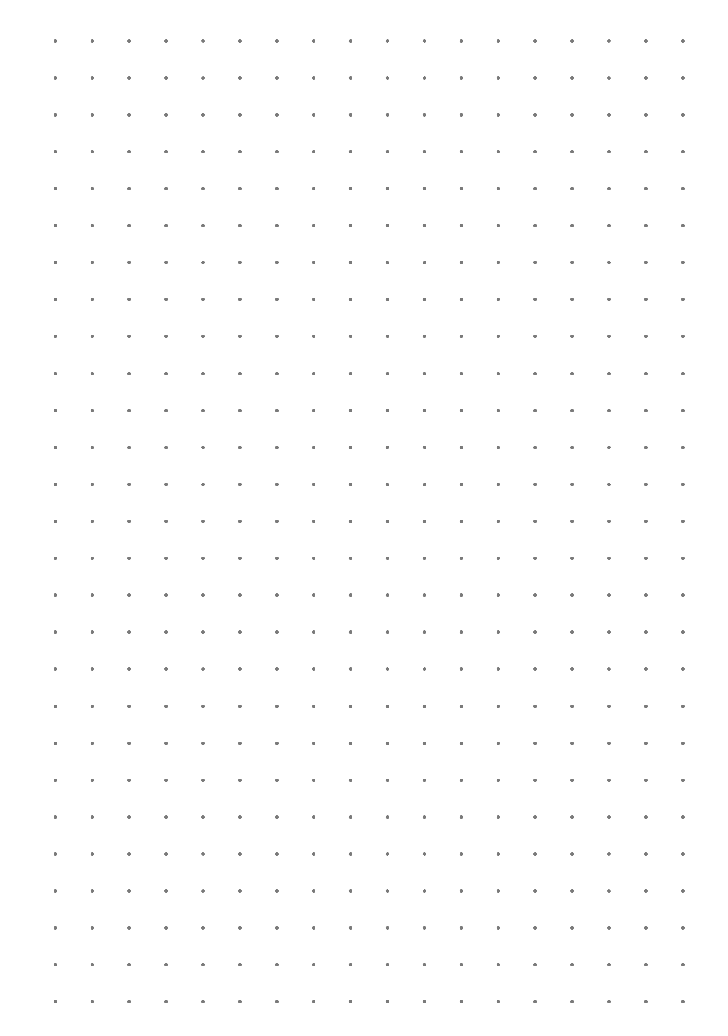Dot Grid Paper With 7 5 Mm Spacing Grid Paper Paper