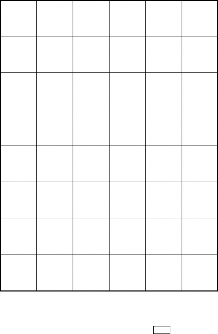 One Inch Graph Paper Free Printable
