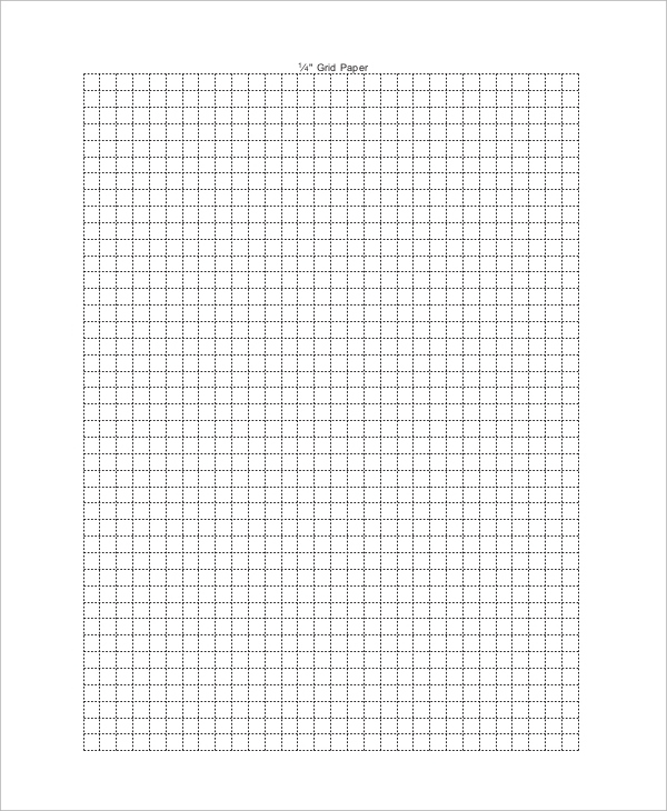 1 4 Inch Scale Graph Paper Printable