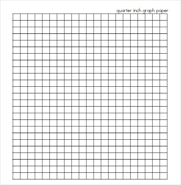 One Quarter Inch Graph Paper Printable