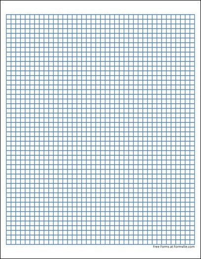 Free Graph Paper 5 Squares Per Inch Heavy Blue From