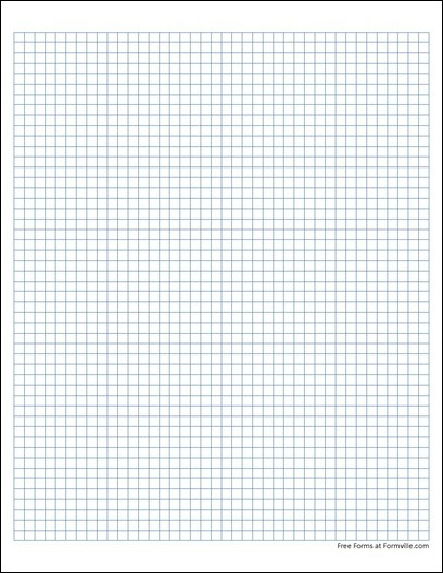 Free Graph Paper 5 Squares Per Inch Solid Blue From