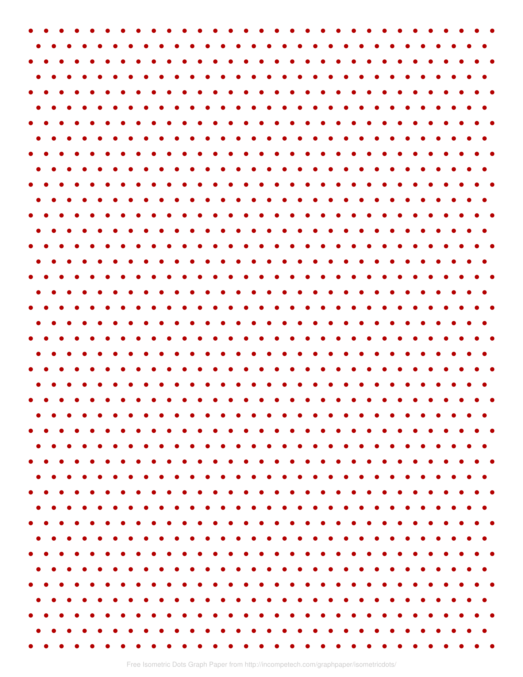 Free Online Graph Paper Isometric Dots