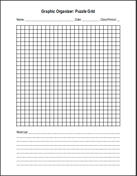 Free Printable Blank Word Search Puzzle Grid For Teachers