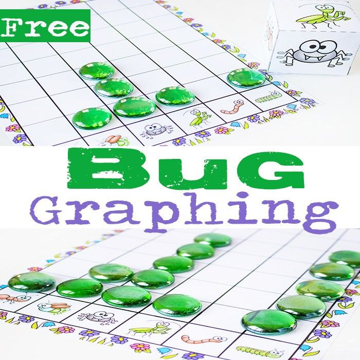 Free Printable Bug Graphing Dice Graphing Activities