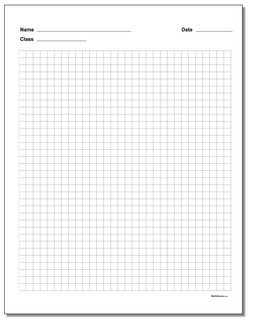 Free Printable Graph Paper With Name Block Great For