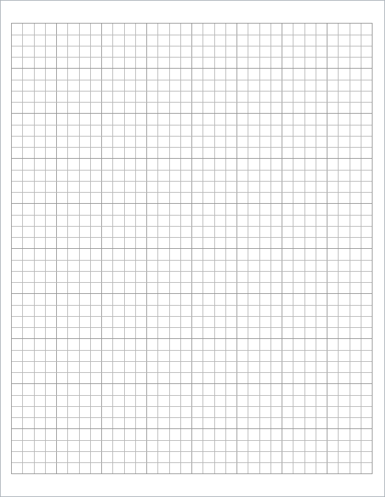 Free Printable Grid Graph Paper Template