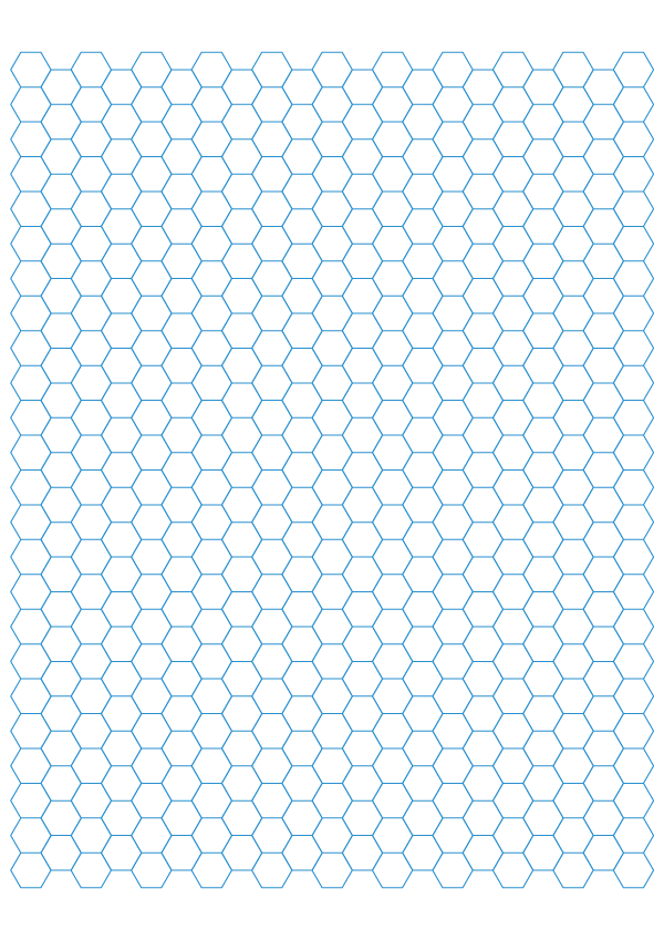 Free Printable Hexagonal Graph Papers Template