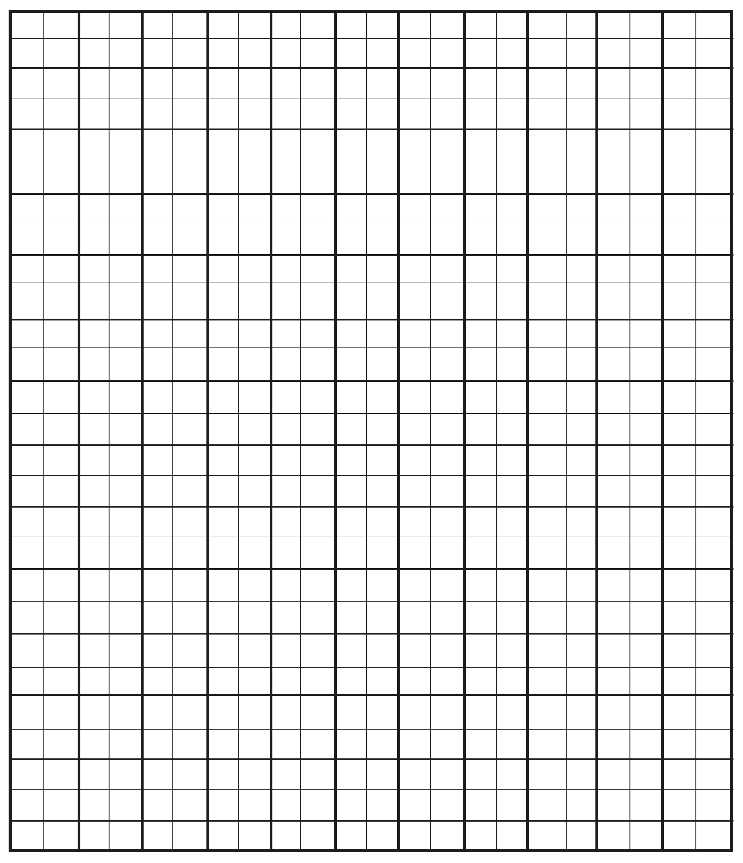 Free Printable Quad Ruled Graph Paper Template Free