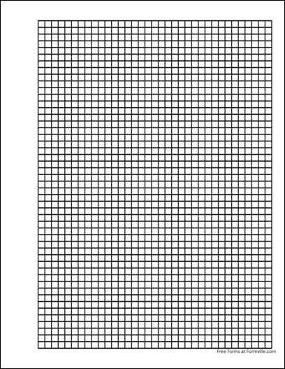Free Punchable Graph Paper 5 Squares Per Inch Heavy Black