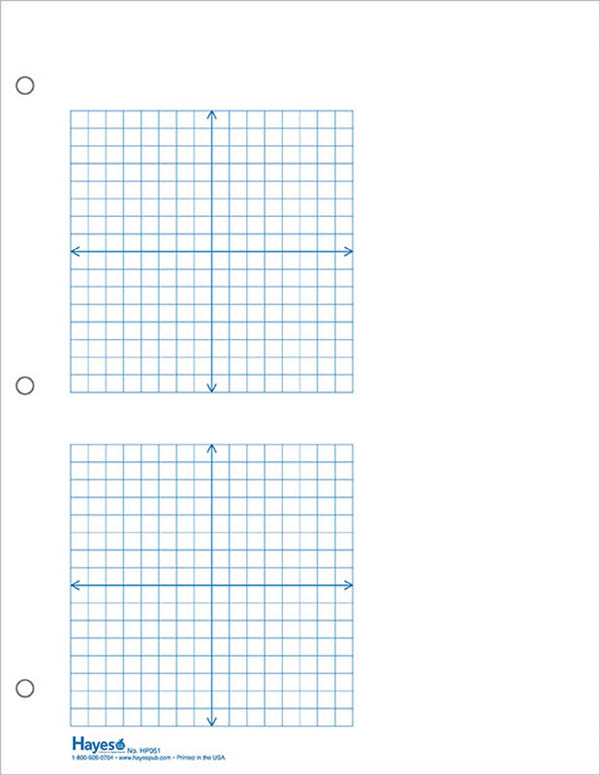 Graph Paper 2 Grid XY 1 4 Squares 100 Sheet Pack