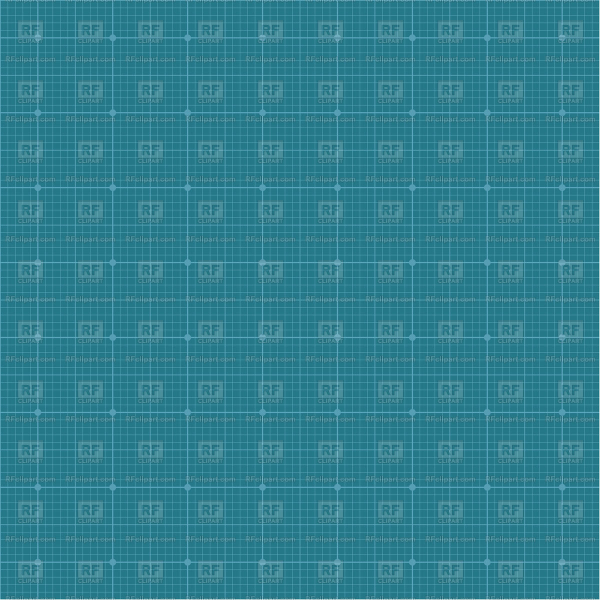 Graph Paper Grid Blue Background Vector Image Of
