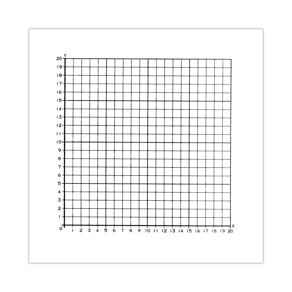 Graph Paper Stickers 1st Quadrant Numbered 0 To 20