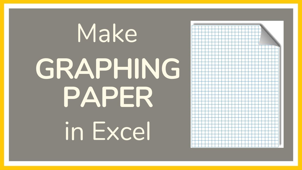 How To Make Graph Paper In Excel Tutorial YouTube