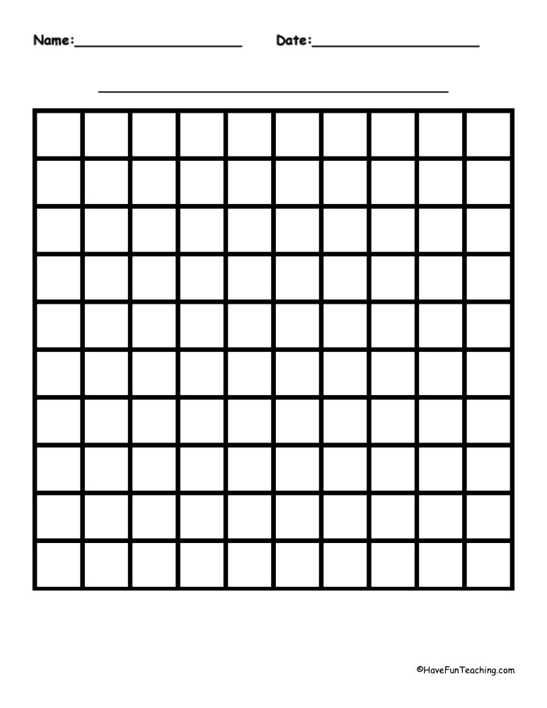 Math Graphing Worksheets Resources