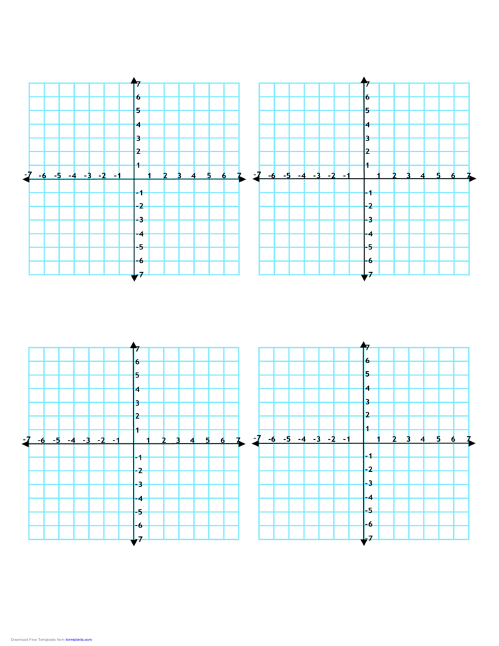 Multiple Coordinate Graphs 4 per Page Free Download