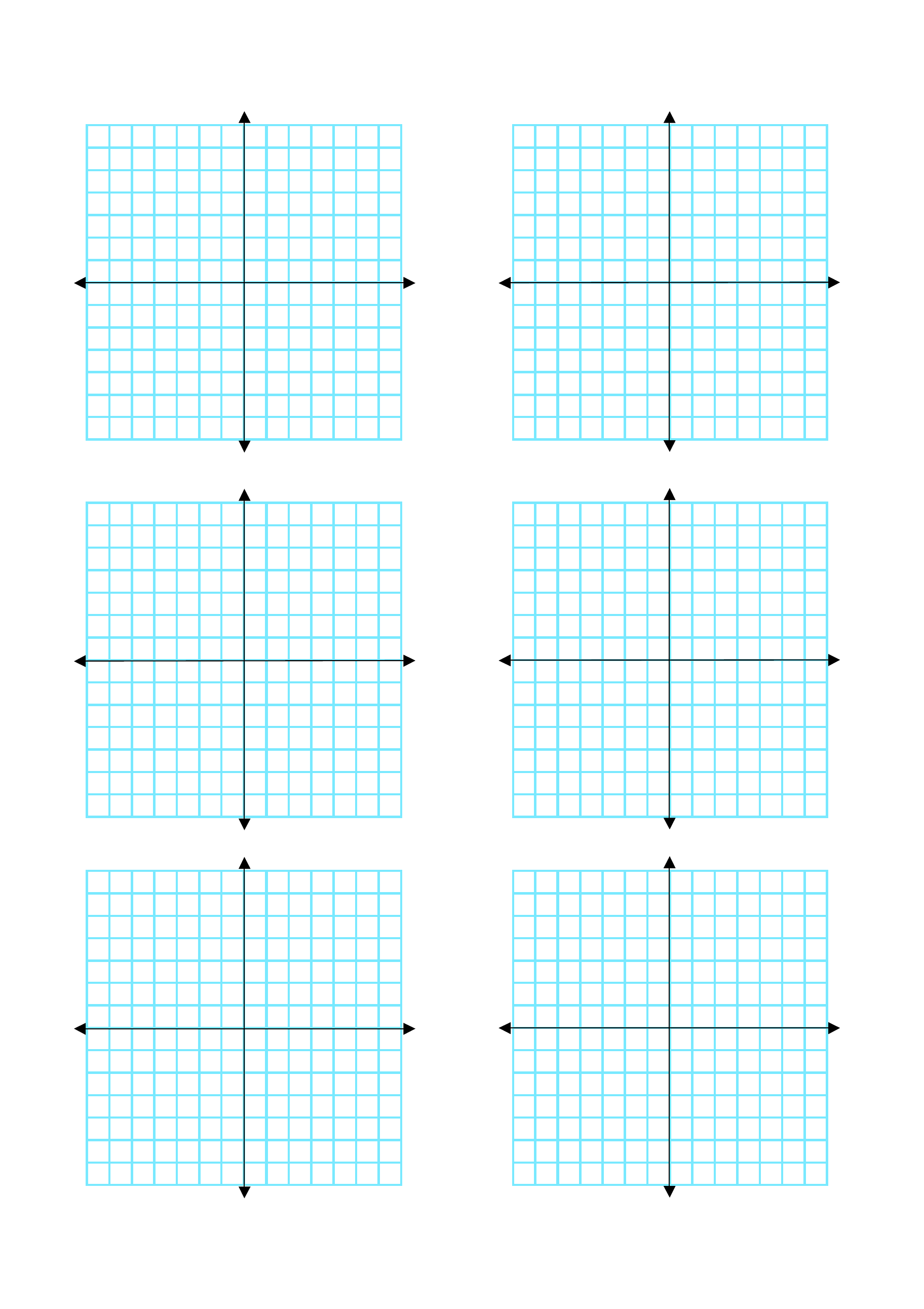 Multiple Coordinate Graphs 6 per Page Free Download