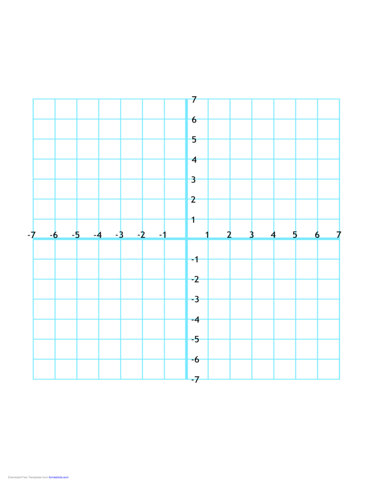 Numbered Four Quadrant Grid 14x14 Free Download