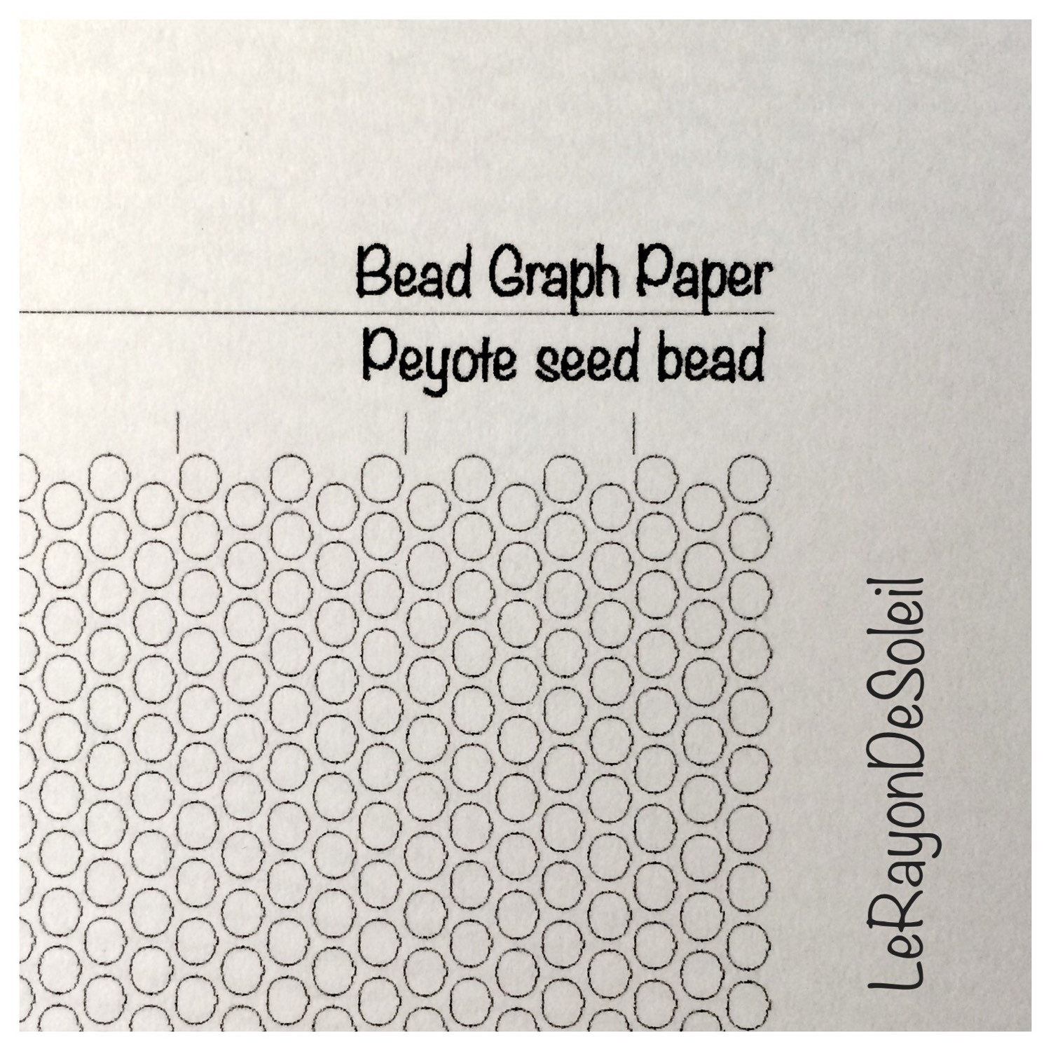 Peyote Seed Bead Graph Paper Peyote Template For Seed Beads