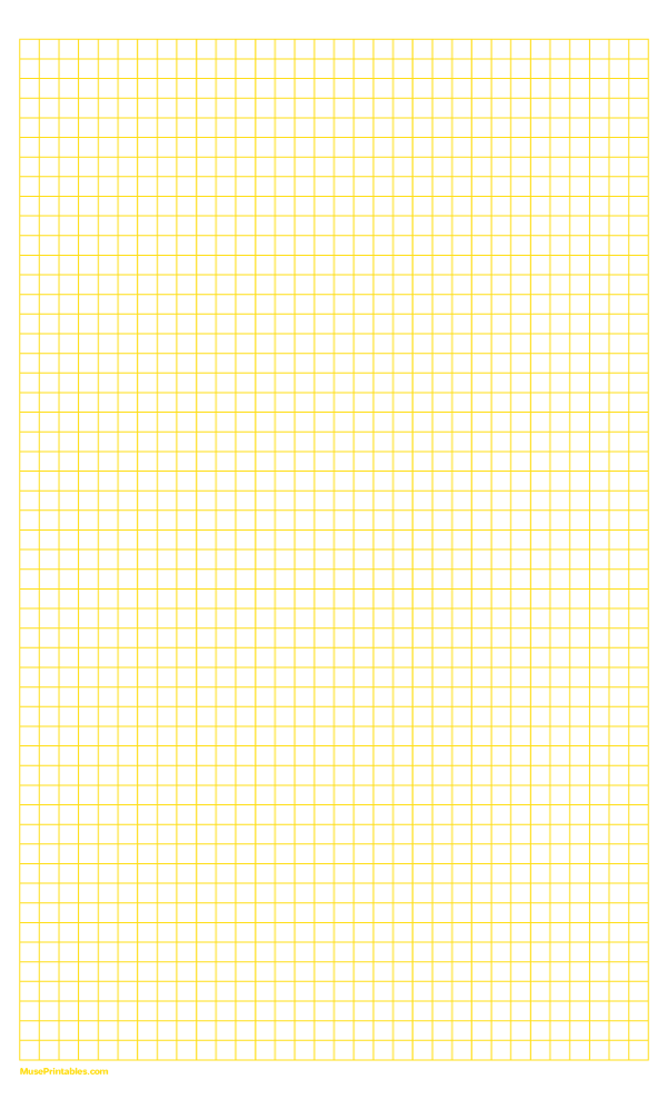 Printable 1 4 Inch Yellow Graph Paper For Legal Paper