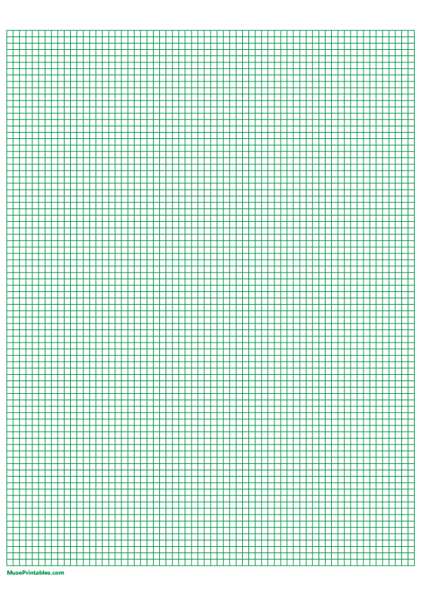 Printable 1 8 Inch Green Graph Paper For A4 Paper
