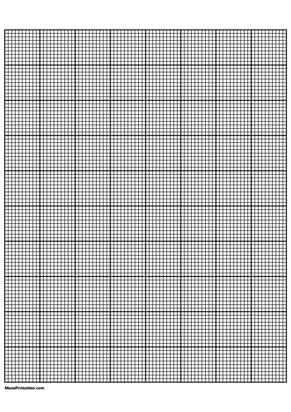 Printable 10 Squares Per Inch Black Graph Paper For A4 Paper