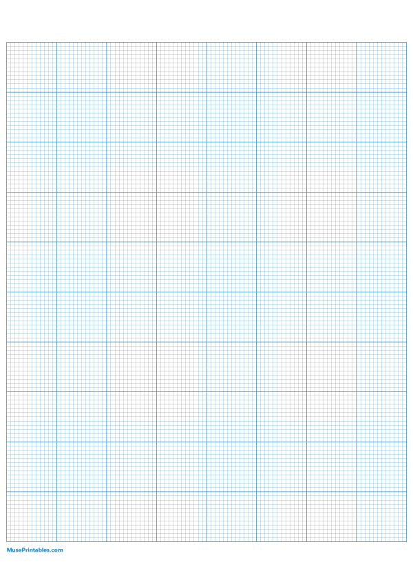 Printable 12 Squares Per Inch Blue Graph Paper For A4 Paper