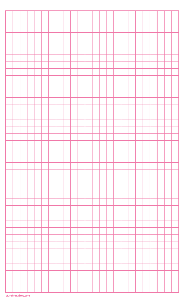 Printable 3 Squares Per Inch Pink Graph Paper For Legal Paper