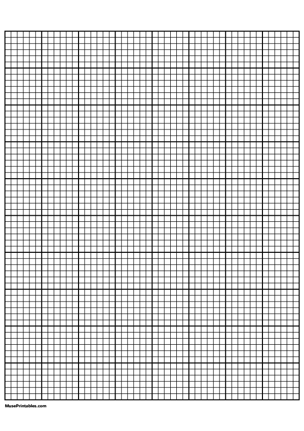 Printable 6 Squares Per Inch Black Graph Paper For A4 Paper