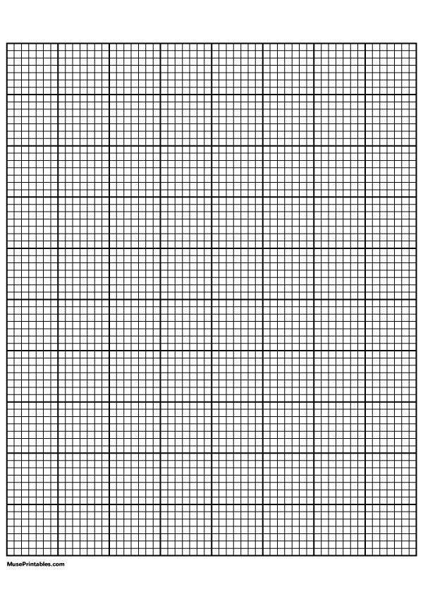 Printable 7 Squares Per Inch Black Graph Paper For A4