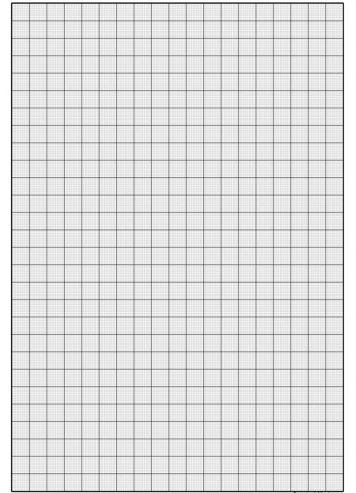Free Black And White Large Print Graph Paper
