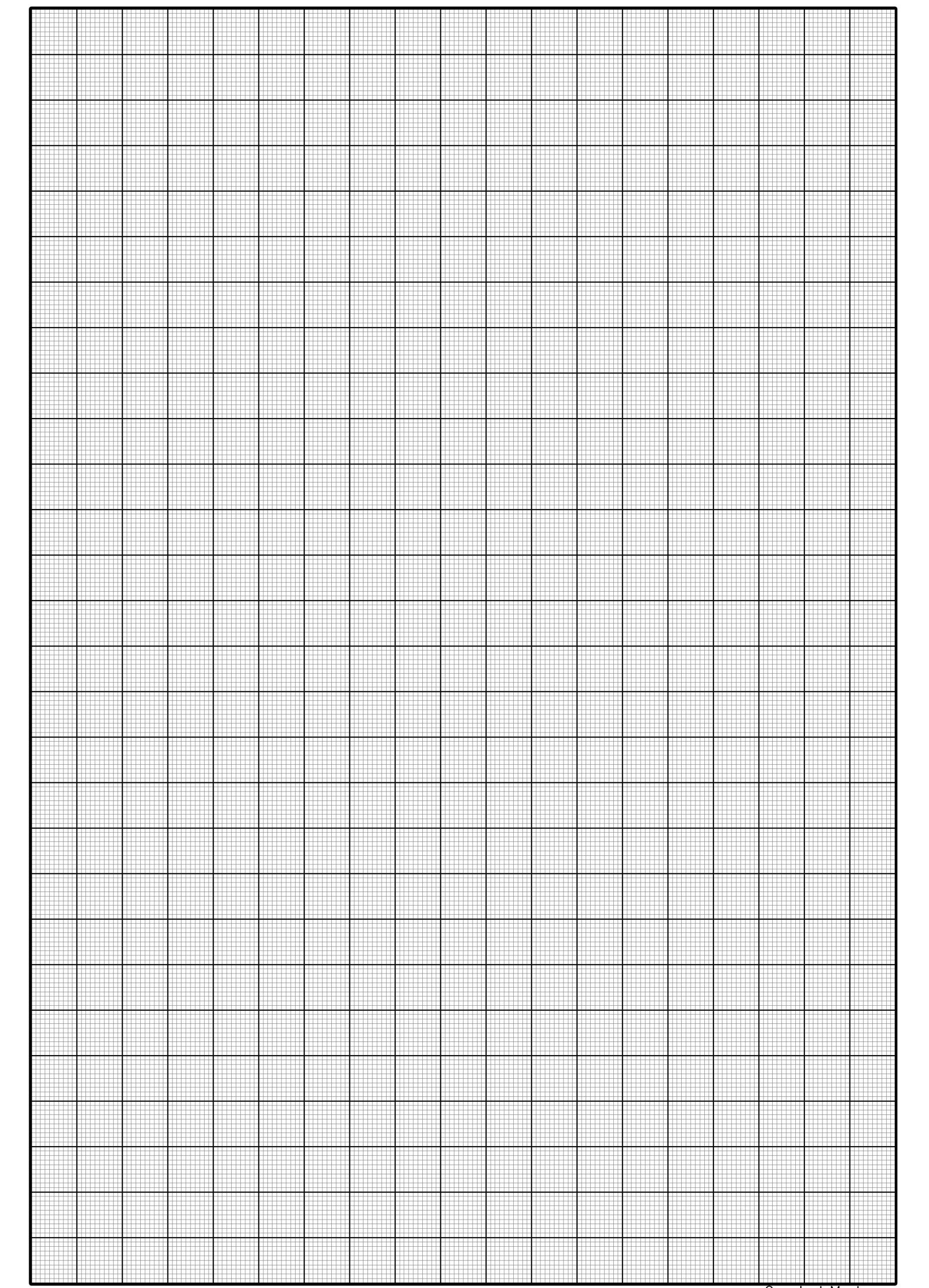 Printable Graph Paper PDF Template A4 Large Catchy