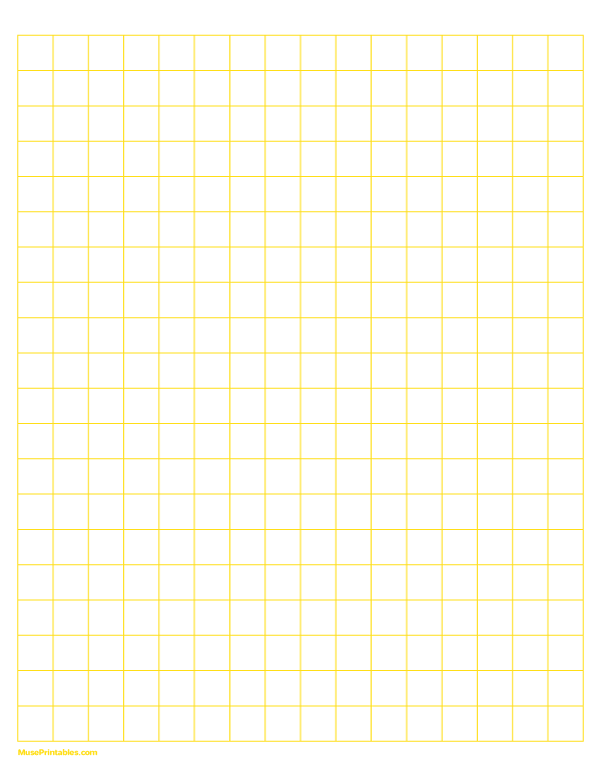 Printable Half Inch Yellow Graph Paper For Letter Paper