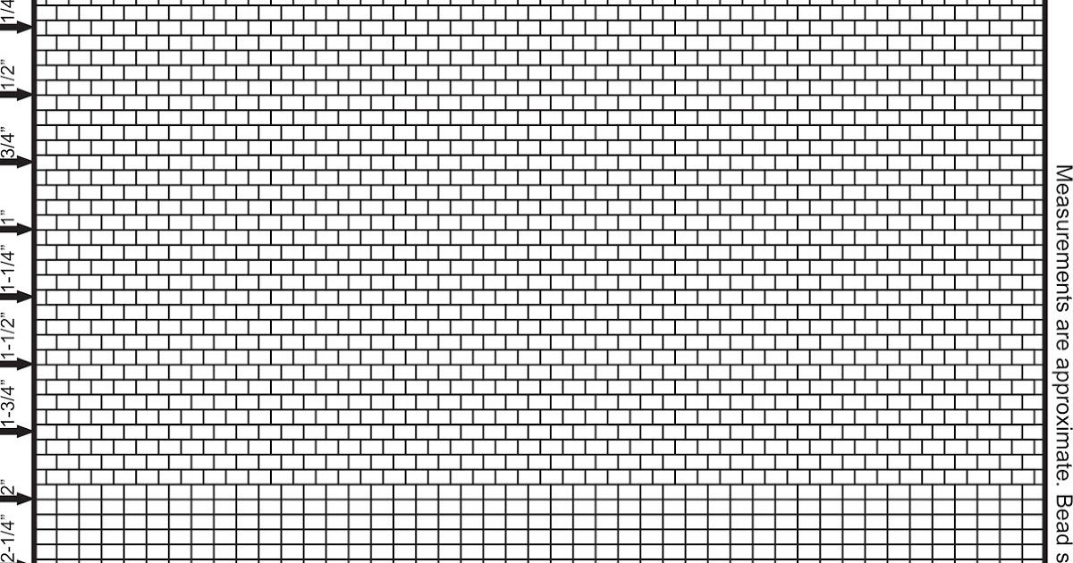 Size 11 Seed Bead Graph Paper Brick Stitch And Fringe In