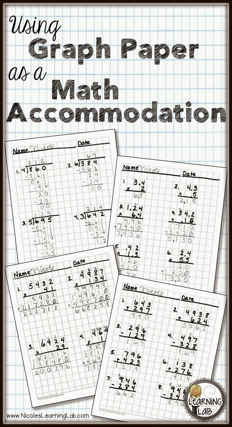 Using Graph Paper As A Math Accommodation Learning Lab